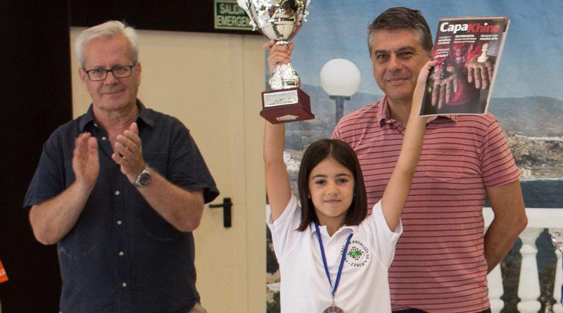 Aitana Portero Campeona de España de Ajedrez Rápido Benjamín
