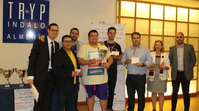 Antonio Arboledas campeón de Andalucía de Ajedrez Relámpago