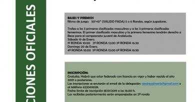 Campeonato Juvenil Provincial de Almería 2019