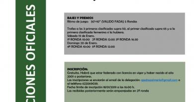 Campeonato Veterano Provincial de Almería 2019