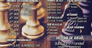 Campeonato Oficial Activo y VIII Open Olula del Río