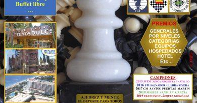"""VI INTERNACIONAL SUB-2200 FIDE DE AJEDREZ """"FRIGAN"""""""