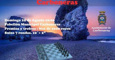 """XXXV Abierto Internacional de Ajedrez """"Fiestas del Pescador 2021"""""""